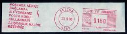 Machine Stamps (ATM) Red Special Cancels SELCUK 23.9.86 (#21) - 1921-... République