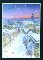 LITHUANIA  -  Artist View Of Vilnius In Winter  Used Postcard As Scans - Lithuania