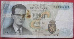 Belgien: 20 Francs / Frank 15.6.1964 (WPM 138) - [ 2] 1831-... : Belgian Kingdom