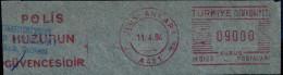 Machine Stamps (ATM) Red Special Cancels ULUS-ANKARA 11.4.84 (#17) - 1921-... République