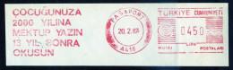 Machine Stamps (ATM) Red Special Cancels PASAPORT 20.2.87 (#14) - 1921-... République