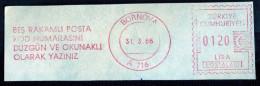 Machine Stamps (ATM) Red Special Cancels BORNOVA 31.3.86 (#13) - 1921-... République