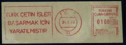 Machine Stamps (ATM) Red Special Cancels EGRIDIR 21.9.73 (#10) - 1921-... République