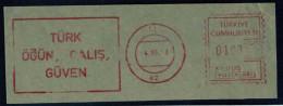 Machine Stamps (ATM) Red Special Cancels ZILE 4.10.73 (#9) - 1921-... République