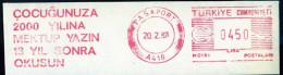Machine Stamps (ATM) Red Special Cancels PASAPORT 20.2.87 (#8) - 1921-... République