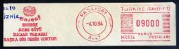 Machine Stamps (ATM) Red Special Cancels PASAPORT 4.10.84 UNICEF (#6) - 1921-... République