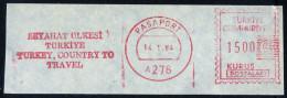 Machine Stamps (ATM) Red Special Cancels PASAPORT 14.1.84 (#5) - 1921-... République