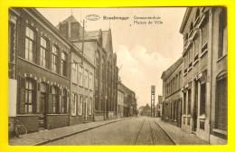 ROUSBRUGGE-HARINGHE : GEMEENTEHUIS richting BEVEREN te ROESBRUGGE HARINGE deelgemeente van POPERINGE IJZER  2572