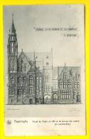 Rare postkaart : ONTWERP van STADHUIS & POST = POPERINGE - PROJET H�TEL DE VILLE & LA POSTE POSTES                2489