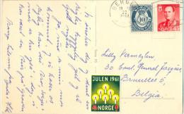 _4Cp505: JULEN 1961 NORGE : BERGEN > Bruselles.. - Norvège
