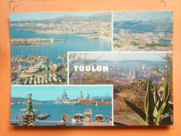 V09-83-B-var-toulon-panoramas Port Ville Rade-navire- Voilier-yacht-- - Toulon