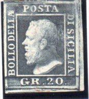 SICILE : N°23 . (*) . 1859 .NSG . TB . SIGNE CALVES . - Sicily