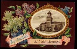 CPA 59 MES AMITIES DE VALENCIENNES STYLE ART NOUVEAU COLORISEE 1920 - Valenciennes