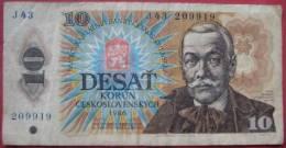 10 Kronen / Korun  1986 (WPM 94) - Tschechoslowakei