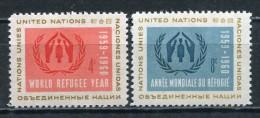 UNO New York Nr.82/3**  Mint       (040) - New York -  VN Hauptquartier