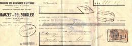 Lettre Change 25/9/1935 DAUZET DELZONGLES Fromage Cantal & Laguiole Bleu SAINT CHAMANT Pour Gourdon Lot - Timbre Fiscal - Lettres De Change