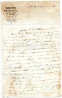 Lettre  écrite à AURAY LE 21 Aout 1851 -  DENIS Jeune  Marchand De Vins En Gros à Auray - Successeur De DENIS Père. - Alte Papiere