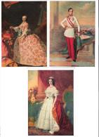 3 AK - Österreich  - Wien - Schönbrunn - Painting Of Kaiserin Elisabeth , Kaiserin Maria Theresia - Kaiser Franz Joseph - Châteaux