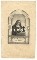 Ancienne Gravure ( Non Signée ) St E Madeleine De Pazzi  Encadrés D Anges  8.5 X 13.5 Cm Env - Images Religieuses