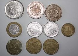 Lot Pièces En Franc - Monedas & Billetes