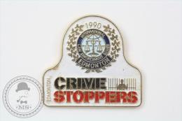 1990 Edmonton Crime Stoppers - Pin Badge #PLS - Policia