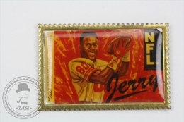 Jerry Rice, San Francisco NFL Basketball - Pin Badge #PLS - Baloncesto