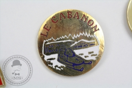 Le Cabanon, Snowmobile - Pin Badge #PLS - Invierno