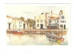 CSM : 17 - Saint Martin Ile De Ré : Aquarelle De Ph Moscato : Port - Maisons ... - Saint-Martin-de-Ré