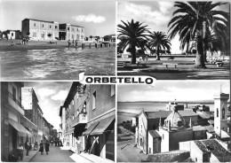 TOSCANA-GROSSETO- ORBETELLO  VEDUTE CORSO ITALIA DUOMO GIARDINI BAGNI GIANNETTA - Italia