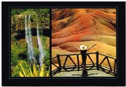 Carte Postale - Maurice - Chamarel - La Cascade Et La Terre 7 Couleurs - Maurice