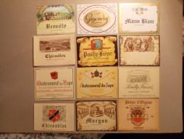 Lot 12 étiquettes De Vin Différentes (11) - Collections, Lots & Séries