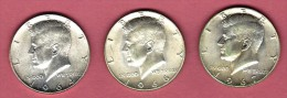 LOT 3 PIECES HALF DOLLAR 1964 -1966-1967 - Federal Issues
