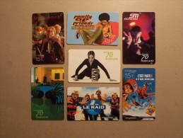 Lot 7 Télécartes Mobicartes Tirages Limités (5) - Télécartes