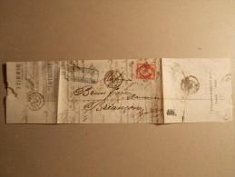 Lettre Obliteration Enveloppe Timbre N°17B En TTB PC 2272 Cf Description (41/43) - 1849-1876: Période Classique