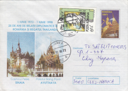 10629- ROMANIAN- THAILAND DIPLOMATIC RELATION, PELES CASTLE, BANG PA IN PALACE, COVER STATIONERY, 1998, ROMANIA - Enteros Postales