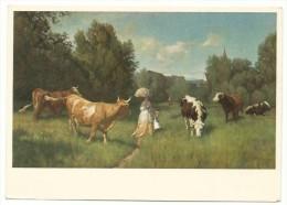Rudolf Koller -  Kühe Auf Der Weide. - Mucche Al Pascolo. - Malerei & Gemälde