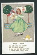Agnes Richardson. Comique Series, N° 6761. Bonne Année. Petite Fille Avec Cadeaux. - Autres Illustrateurs