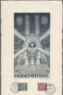 """Bund: Sonderkarte / Sonderdruck DINA4h, Mi-Nr 330-31 SST , """"Eucharistischer Weltkongreß - München 1960, Rarität """"! X - Storia Postale"""