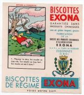 Buvard - Biscottes Exona - Essones - Meunier Tu Dors, Ton Moulin Va Trop Vite. Ton Moulin Va Trop Fort ... - Bizcochos