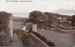 BEAUMARIS - CASTLE GARDENS - ANGLESEY - WALES WITH GOOD BEAUMARIS.S.O. POSTMARK - Anglesey