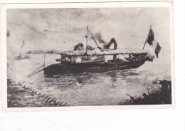 Batiment Militaire Marine Francaise Canonniere Francaise En Indochine Serie De 1866 Photo De Dessin - Boats