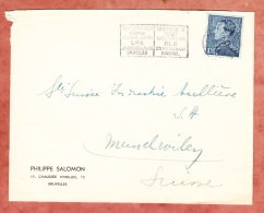 Brief, Philippe Salomon, EF Koenig Leopold, MS Bruxelles Nach Muenchwilen, Ca. 1938 (70574) - Belgien