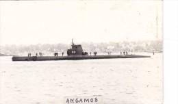 Batiment Militaire Marine Perou Sous Marin Angamos + Equipage Peru - Boats