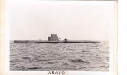 Batiment Militaire Marine Perou Sous Marin Abato 1954 Ex Tiburon Peru - Boats
