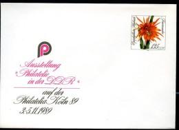 DDR U10 Umschlag  KAKTEE FEUERZAUBER Epiphyllum Hybride ** 1989  Kat. 4,00 € - Private Covers - Mint