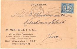 _4Cp218: Drukwerk Kaart: N° 52: ROTTERDAM - Periode 1891-1948 (Wilhelmina)