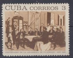 1969.7 CUBA 1969. MNH. ASAMBLEA DE GUAIMARO. INDEPENDENCE WAR. GUERRA DE INDEPENDENCIA. - Usados