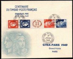 FRANCE - Bande Du Centenaire Du Timbre - FDC