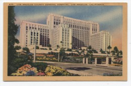 CA ~ General Hospital LOS ANGELES California c1940's Postcard