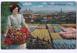 Gruss Aus Der Blumenstadt ERFURT 1916 - Erfurt